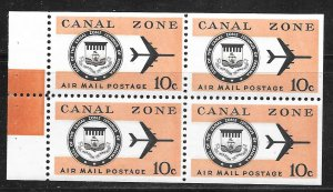 Canal Zone C48a: 10c Seal and Jet Plane, MNH, VF