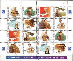 Micronesia 1993 Aviation Pioneers of Flight ( I set ) Sheet 2 sets MNH