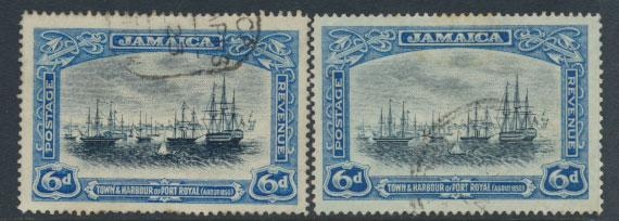 Jamaica  SG 101 and 101a - Used  see scan and details