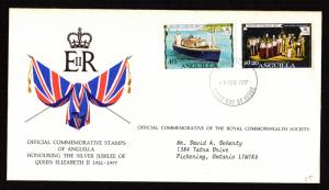 Anguilla - Scott #272-273 on First Day Cover (Royalty)
