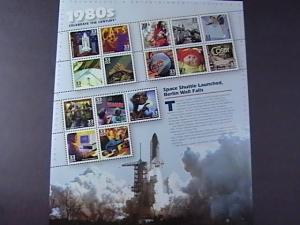 U.S.#3190-MNH-- PANE OF 15 STAMPS-CELEBRATE THE CENTURY THE 1980'S----2000