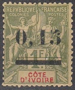 Ivory Coast #20 F-VF Unused CV $26.00 (A16796)