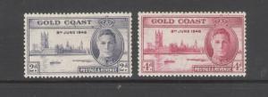Gold Coast 1946 Peace Issue Omnibus Issue Scott # 128 - 129 MH