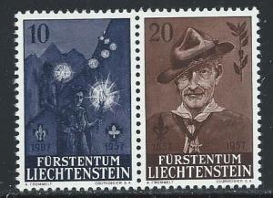 LIECHTENSTEIN SC# 315-16 VF/MNH 1957