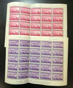 Liechtenstein #C15 - #C16 Very Fine Never Hinged Full Sheet Set Of Twenty Five