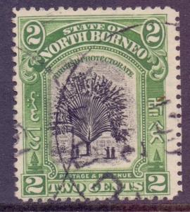 North Borneo Scott 137 - SG160 1909 Traveller's Tree 2c used