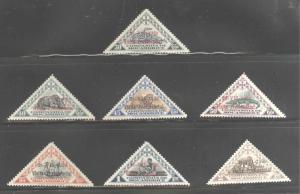 Mozambique  Company Scott 194-200 overprint triangle set MH* CV$14