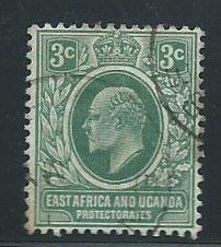 East Africa & Uganda SG 45 Used light small corner crease
