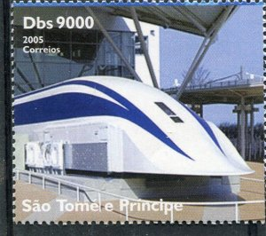 Sao Tome & Principe 2004 JAPANESE TRAIN set 1v Perforated Mint (NH)