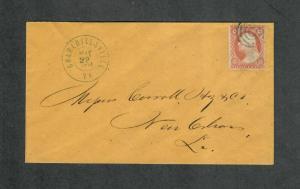 Charlottesville VA Cover May 22 1861 CSA Usage ADDR To Carroll Hoy+Co Sc#26