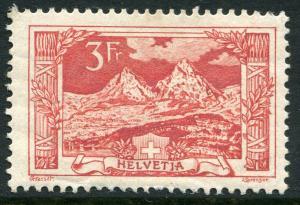 SWITZERLAND ~ #182 Very Nice Mint Light Hinged Issue MYTHEN ~ S5340
