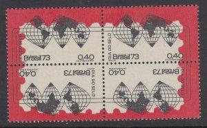 Brazil 1299C Mercator Map Block mnh