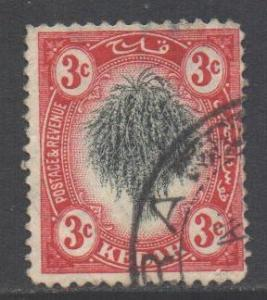 Malaya Kedah Scott 4 - SG2, 1912 Sheaf of Rice 3c used