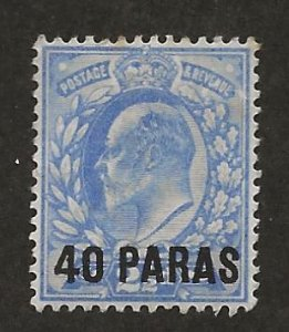 GREAT BRITAIN OFFICES - TURKISH EMPIRE SC# 8  FVF/MNG 1902