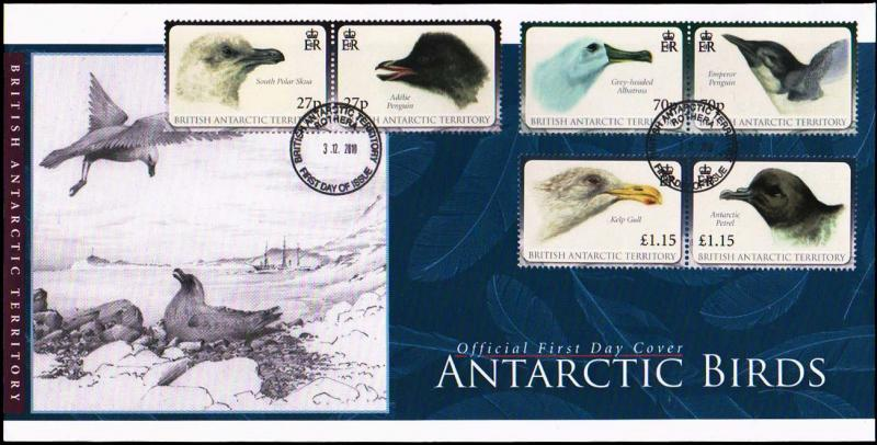 British Antarctic Territory Scott 423-425 Unaddressed.