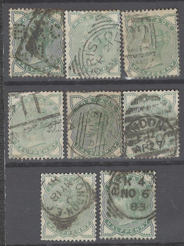 COLLECTION LOT # 2236 GREAT BRITAIN #78 X 8 SOME WITH MINOR FAULT 1880 CV+$108