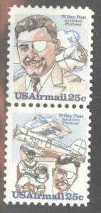 USA Scott C96a = C95-C96 Wiley post and Winnie Mae pair MNH**