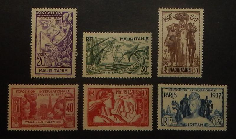 Mauritania 69-74. 1937 International Exposition