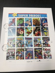 US FDC 4159 Marvel Super Hero Souvenir Sheet Of 20 First Day Cover 2007
