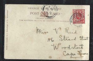 ORANGE RIVER COLONY COVER  (P0612B) 1905 KE 1D ANIMALS ON PPC BLOEMFONTAIN TO