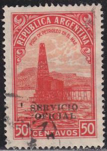 Argentina O62 USED 1945 Oil Derrick