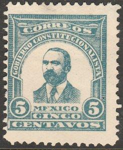 MEXICO 5¢ 1914 MADERO ESSAY, NEVER ISSUED. UNUSED, H ORIGINAL GUM. VF..(1072)