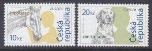 Czechoslovakia 3308-09 MNH 2006 EUROPA Set Horse & Dog Set Very Fine