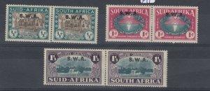 South West Africa 1939 Huguenots Landing SG111/113 MLH J8405