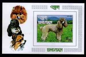 Bhutan - Mint Souvenir Sheet Scott #149N Imperforate (Dogs)