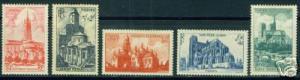 FRANCE Scott B213-7 Yvert 772-6 MNH** Cathedral set
