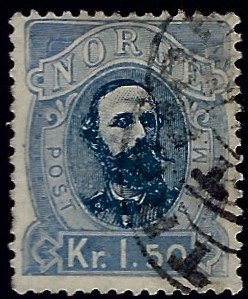 Norway #33 Used F-VF hr SCV$50...Chance to buy a Bargain!