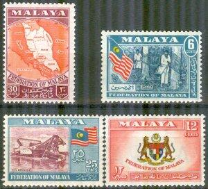 Malaya, Federation 1957 #80-3 MNH