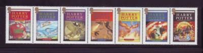 Great Britain Sc 2485a 2007 Harry Potter stamp strip mint NH