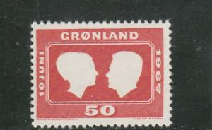 Greenland  Scott#  69  MNH  (1967 Royal Wedding)