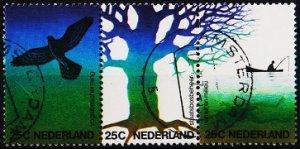 Netherlands. 1974 25c(Strip of 3) S.G.1184/1186 Fine Used