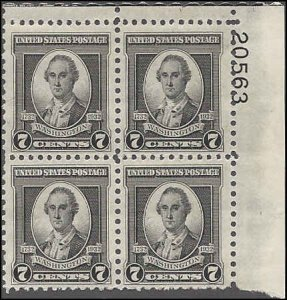 712 Mint,OG,NH... Plate Block of 4... SCV $12.00