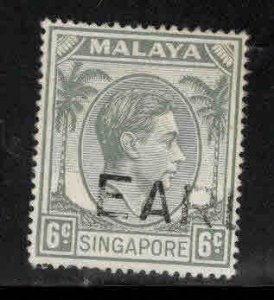 Singapore Scott 6a Used perf 18 stamp