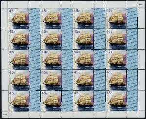 Australia 1729 Sheet with Nest Wishes logo MNH Ship Polly Woodside