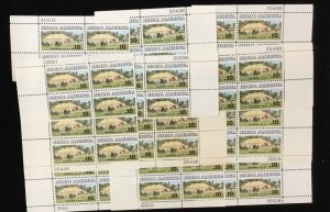 1505   Chautaugua Tent.   25 plate blocks.   MNH 10 cent stamps.  Issued in 1973