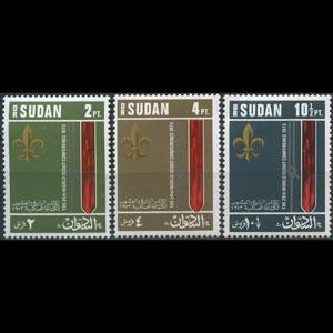 SUDAN 1974 - Scott# 269-71 Scout Conf. Set of 3 NH