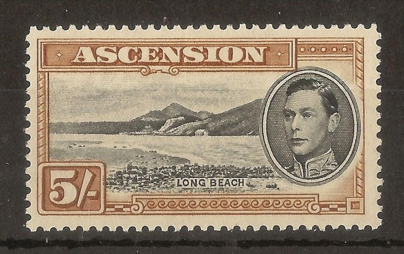 Ascension 1944 5/- SG46A Perf 13 Mint Cat£40