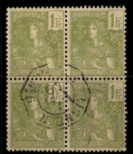 Indo-China Scott 37 block of 4 stamps Used from 1904-1906 France set CV $30