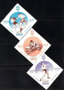 LEBANON - LIBAN MNH SC# B13-B15 - 17th. OLYMPIC GAMES ROME 1960