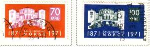 Norway Sc 570-1 1971 Parliament stamps used