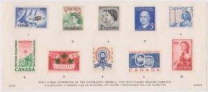 Canada USC #SC3a Cat. $!0.00 1961 over verso Souvenir Card VF