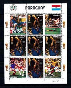 [60847] Paraguay 1982 World Cup Soccer Football Spain Altobelli Sheet MNH