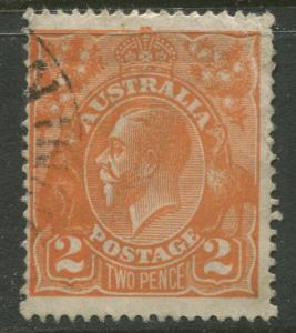Australia - Scott 27a - KGV Head -1920 - FU - Wmk 9 -  2p Stamp