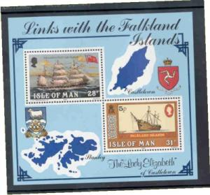 Isle of Man Sc 259 1984 Falkland Islands ship stamp sheet NH