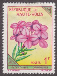 Burkina Faso 112 Oldenlandia Grandiflora 1963