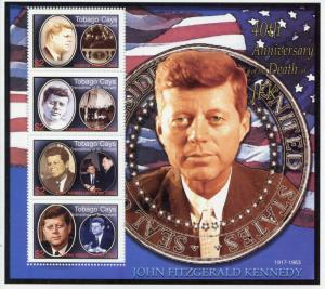 Tobago Cays Grenadines Vincent 2003 MNH John F Kennedy Death 4v M/S JFK Stamps